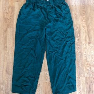 Missoni Green Viscone Crop Dress Pants 46 XL